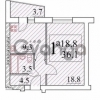 Продается квартира 1-ком 38 м² Приладожский п., Садовая ул