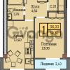 Продается квартира 1-ком 39 м² Шатурская