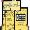 Продается квартира 1-ком 37 м² Шатурская