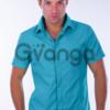 Рубашка с коротким рукавом, приталенная