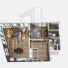 Продается квартира 1-ком 54 м² Заречная улица, 5вл1