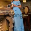 Легкое шифоновое платье в пол 1557