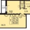 Продается квартира 1-ком 36 м² Ленинский пр. улица, 74, метро Ленинский Проспект