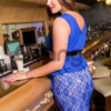 Элегантное платье с красивым декором Plus Size 1616