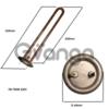 Тен для водонагрівача (бойлера) Термекс IF, RZB, ID 700Вт RGS 1.2 MPa DN 1112