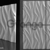 Гипсовая 3D панель для стен ( 006 ) 500 х 500 х 25