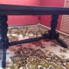 Черный журнально-обеденный раскладной стол