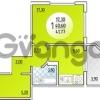 Продается квартира 1-ком 41.77 м² Валерия гассия, 6
