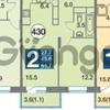 Продается квартира 2-ком 44 м²