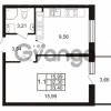 Продается квартира 1-ком 32.3 м² Комендантский проспект 53к 1, метро Комендантский проспект