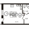 Продается квартира 1-ком 24.31 м² Комендантский проспект 53к 1, метро Комендантский проспект