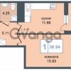Продается квартира 1-ком 36 м² Дунайский проспект 7, метро Звёздная