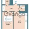 Продается квартира 1-ком 42 м² Дунайский проспект 7, метро Звёздная