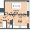 Продается квартира 1-ком 37 м² Дунайский проспект 7, метро Звёздная