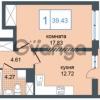 Продается квартира 1-ком 39 м² Дунайский проспект 7, метро Звёздная