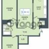 Продается квартира 3-ком 86 м² Дунайский проспект 7, метро Звёздная