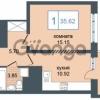 Продается квартира 1-ком 35 м² Дунайский проспект 7, метро Звёздная