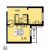 Продается квартира 1-ком 38 м² Ленинский проспект 69, метро Проспект Ветеранов