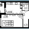 Продается квартира 1-ком 37 м² проспект Маршала Блюхера 11к А, метро Лесная