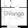 Продается квартира 1-ком 27 м² Центральная улица 7к 1, метро Проспект Просвещения