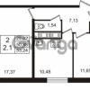 Продается квартира 2-ком 50.88 м² Английская улица 1, метро Улица Дыбенко
