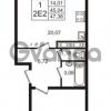 Продается квартира 1-ком 45.04 м² Английская улица 1, метро Улица Дыбенко