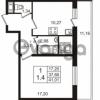 Продается квартира 1-ком 37.66 м² Английская улица 1, метро Улица Дыбенко
