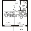 Продается квартира 1-ком 34.19 м² Английская улица 1, метро Улица Дыбенко
