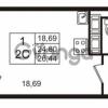 Продается квартира 1-ком 24.8 м² Английская улица 1, метро Улица Дыбенко