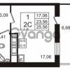 Продается квартира 1-ком 23.56 м² Английская улица 1, метро Улица Дыбенко