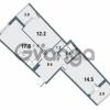 Продается квартира 2-ком 56.9 м² Плесецкая улица 1, метро Комендантский проспект