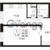 Продается квартира 1-ком 44.59 м² Европейский проспект 9к 1, метро Улица Дыбенко
