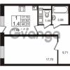 Продается квартира 1-ком 43.84 м² Европейский проспект 9к 1, метро Улица Дыбенко