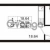 Продается квартира 1-ком 25.55 м² Европейский проспект 9к 1, метро Улица Дыбенко