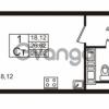 Продается квартира 1-ком 26.62 м² Европейский проспект 9к 1, метро Улица Дыбенко