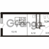 Продается квартира 1-ком 24 м² проспект Энергетиков 9, метро Ладожская