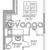 Продается квартира 1-ком 21.11 м² улица Валерия Гаврилина 18к 1, метро Парнас