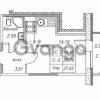 Продается квартира 1-ком 21.62 м² улица Валерия Гаврилина 18к 1, метро Парнас