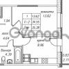 Продается квартира 1-ком 35.58 м² улица Валерия Гаврилина 18к 1, метро Парнас