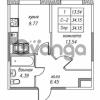 Продается квартира 1-ком 34.15 м² улица Валерия Гаврилина 18к 1, метро Парнас