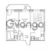 Продается квартира 2-ком 46.82 м² улица Валерия Гаврилина 18к 1, метро Парнас