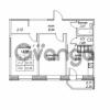 Продается квартира 2-ком 52.96 м² улица Валерия Гаврилина 18к 1, метро Парнас