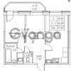 Продается квартира 2-ком 47.4 м² улица Валерия Гаврилина 18к 1, метро Парнас