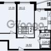 Продается квартира 2-ком 64.62 м² проспект Маршала Блюхера 11, метро Лесная