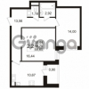 Продается квартира 2-ком 58.75 м² улица Адмирала Черокова 18к 2, метро Проспект Ветеранов