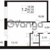 Продается квартира 1-ком 40.19 м² улица Адмирала Черокова 18к 3, метро Проспект Ветеранов