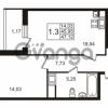 Продается квартира 1-ком 45.95 м² улица Адмирала Черокова 18к 3, метро Проспект Ветеранов