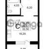 Продается квартира 1-ком 32.5 м² Приморский проспект 52, метро Старая деревня