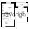 Продается квартира 1-ком 40.17 м² Приморский проспект 52, метро Старая деревня