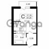 Продается квартира 1-ком 24.2 м² проспект Александровской Фермы 8, метро Пролетарская